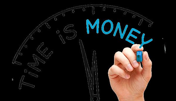 save time money ahorra tiempo