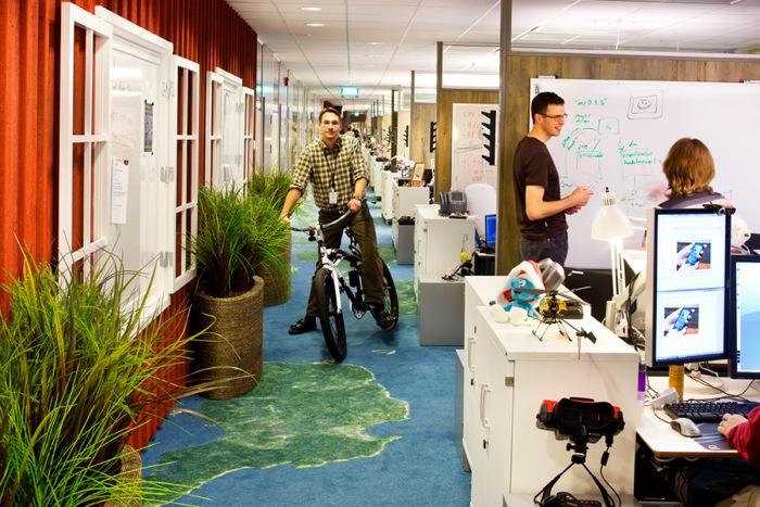 Sí, así lucen las oficinas de Google. Googleplex, San Fracisco (CA)