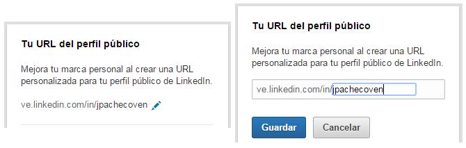 Configurar URL LinkedIn Perfil Público
